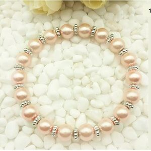 Jewelry - 8mm red water pearl beads stretch bracelet